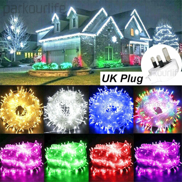 Festive 80 Cold White Berry Lights With, Green Outdoor Led String Lights
