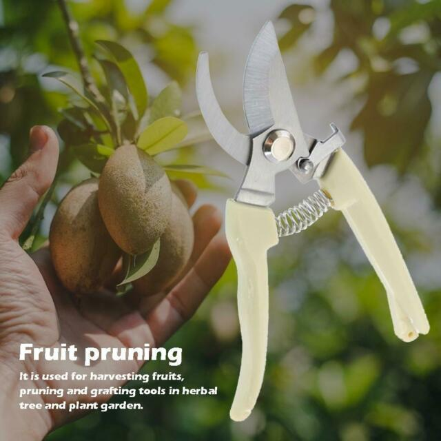 Gardening Pruning Shear Spring Grafting Scissors Carbon Steel Tree Pruner