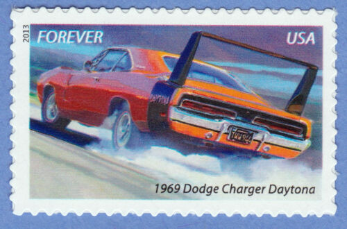 1969 DODGE CHARGER DAYTONA MUSCLE CAR Forever Stamp UNUSED POSTAGE MNH Brand New
