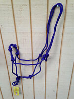 Purple 4 Knot Natural Horsemanship Hand Tied Rope Halter Bitless Bridle