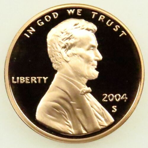 """2004 S Lincoln Memorial Cent Gem Deep Cameo Proof Penny US Mint Coin /""""STUNNING!/"""""""