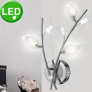 Led-Feuilles-Design-Lumiere-Murale-Verre-Chambre-a-Coucher-Eclairage-Chrome