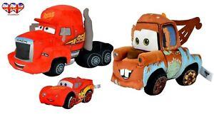 Peluche-Disney-Cars-Mcqueen-17cm-6-6-034-y-Peluche-Disney-Cars-Mack-amp-Mater-25cm-9-8-034