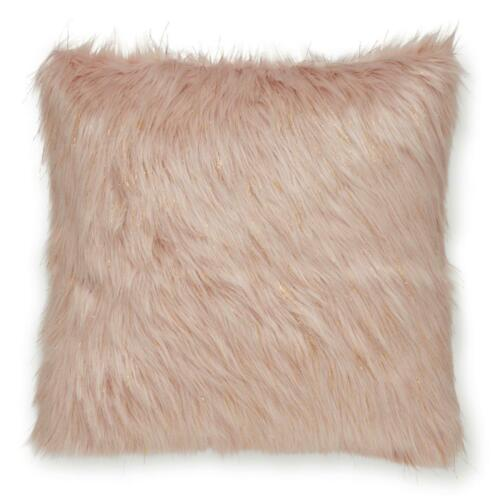 """Catherine Lansfield Metallic Fur Cushion Cover Fluffy Sparkle Covers 18/"""" x 18/"""""""