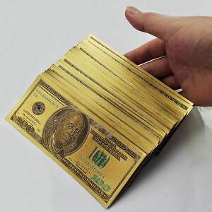 Hot-100-dollar-10pcs-1-1-24k-Gold-Foil-Golden-USD-Paper-Money-Banknotes-Crafts