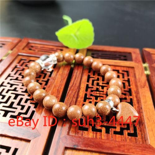 Jade Bead Bracelet Natural Golden Stone Élastique Bracelet Charme Bijoux Cadeaux A2