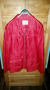 Details zu Damen Jacke von Canda C&A Kunstleder Jacke rot Gr.42
