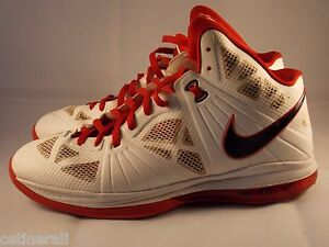 Vintage 2010 Nike Lebron James 828 Size 13 - Red White Black ... 3afeb91e1750