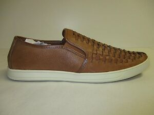 Image is loading Steve-Madden-Size-10-M-WEEVERR-Cognac-Leather-