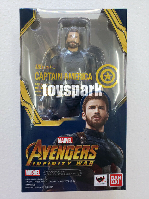 Bandai S.H.Figuarts Marvel Avengers Infinity War CAPTAIN AMERICA action figure