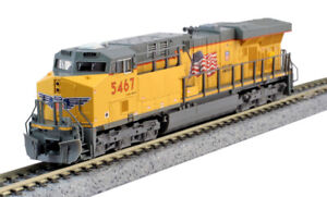 Kato-N-Scale-ES44AC-Locomotive-Union-Pacific-UP-5467-DC-DCC-Ready-1768933