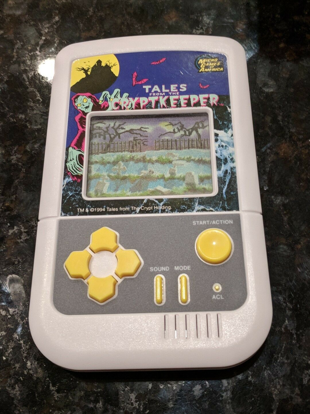 Micro Games of America America America Tales from the Crypt 1994 Hand Held LCD game RARE WORKS 842af2