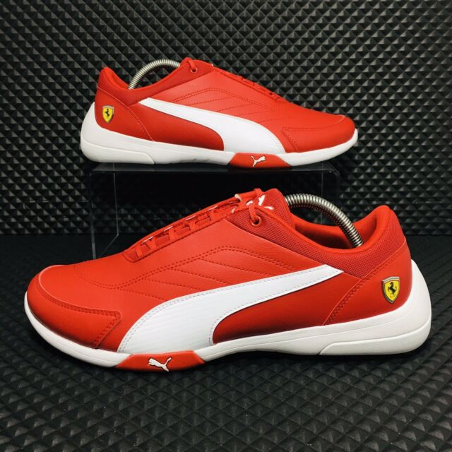 Puma Scuderia Ferrari Kart Cat III (Men's Size 13) Athletic Sneaker Red Shoe