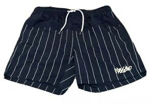 Mens-size-XL-Navy-blue-striped-MOSSIMO-swim-shorts-boardies-board-shorts-NEW