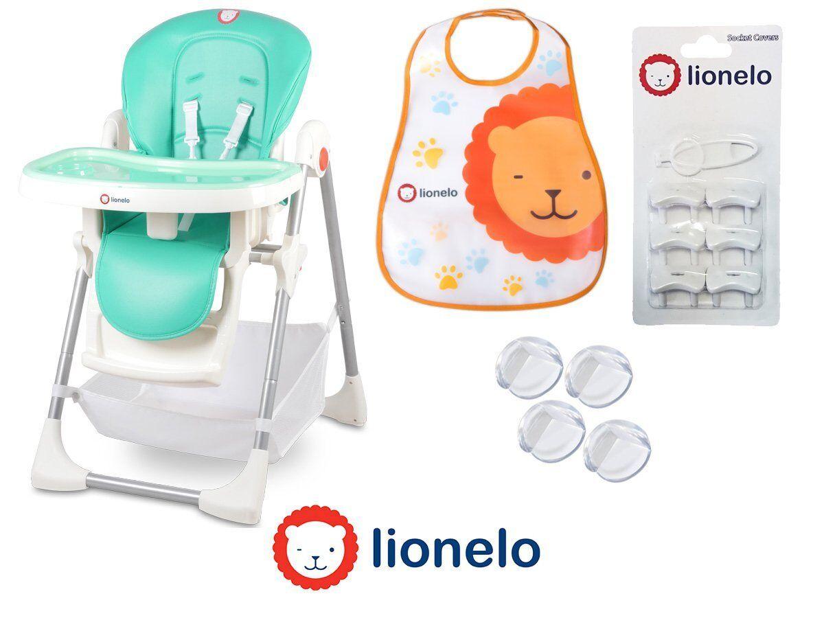 Chaise haute bébé Linn Plus Turquoise 2en1 réglable siège pour enfants