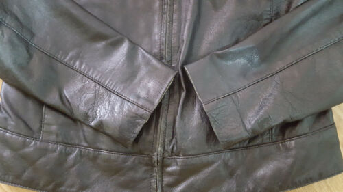 Genuine Size Fred Biker Ladies Florenceamp; Real Leather Black 12 Jacket nO80kwPX