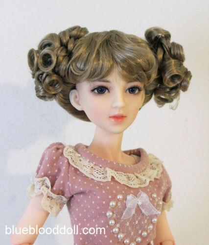 "1//3 bjd 8-9/"" doll head copper wig dollfie Luts Iplehouse W-JD275SM4BL"