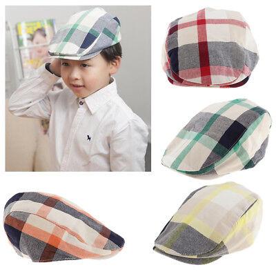 766424d34ed8d Prettyia NEW Kids Boys Beret Toddler Retro Baker Boy Hat Golf Hat Flat Cap  | eBay