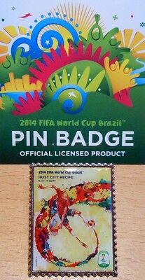 Pin + Plakat Motiv 7 + 2014 FIFA World Cup Brazil + 3,0x2,5 cm + OVP Lizenz #19