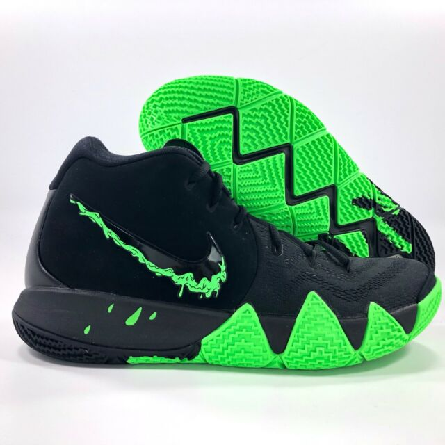 on sale 7a1b7 bce48 Nike Kyrie 4 Halloween Mens Black Rage Green Basketball SNEAKERS 943806-012  Sz 9
