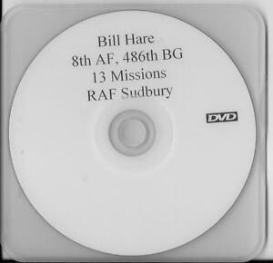 BILL-HARE-8TH-AIR-FORCE-486TH-BOMB-GROUP-B-17-CREWMAN-RARE-INTERVIEW-DVD