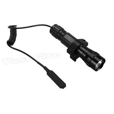5000Lm XM-T6 LED 501B Tactical Flashlight Torch Pressure Switch Mount Light Gun