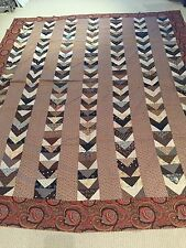 """Antique Vintage Patchwork Quilt top """" Geese flying south for the Winter"""""""