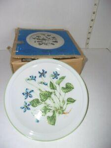 Vintage-6-Royal-Domino-Spring-Violet-Salad-Plates-7-1-2-034-Porcelain-Box-Japan