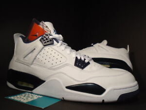 b9abfe073b57b1 2015 Nike Air Jordan IV 4 Retro LS WHITE LEGEND BLUE NAVY COLUMBIA ...