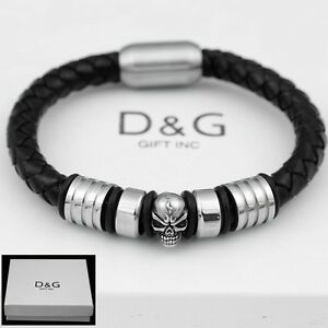 Image Is Loading Dg Mens 8 034 Stainless Steel Silver Black