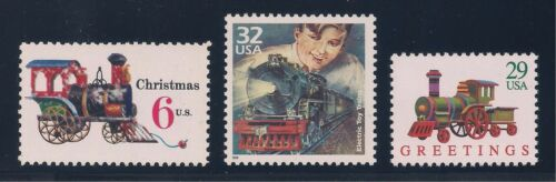 POSTAGE STAMPS ANTIQUE TOY TRAINS ON U.S MINT CONDITION LIONEL