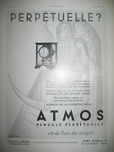PUBLICITE-DE-PRESSE-ATMOS-PENDULE-PERPETUELLE-ILLUSTRATION-HENCHOZ-AD-1933