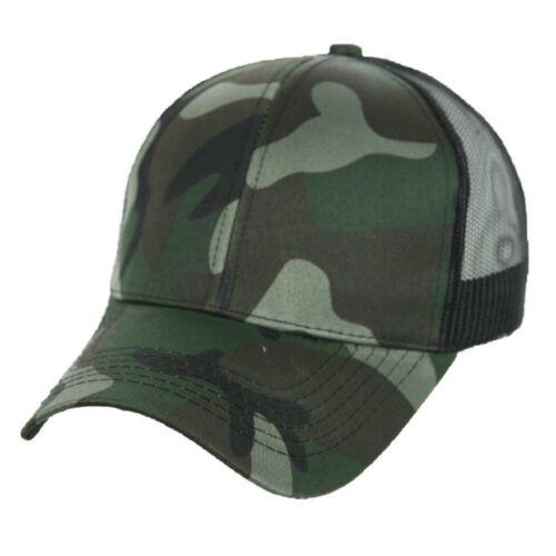 Baseball Cap Military Caps CAMO Mesh Trucker Plain Snapback Army Real Tree Hats