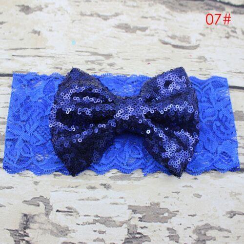 Fashion Kids Girl Baby Sweet Headband Toddler Lace Bow Flower Hair Band Headwear