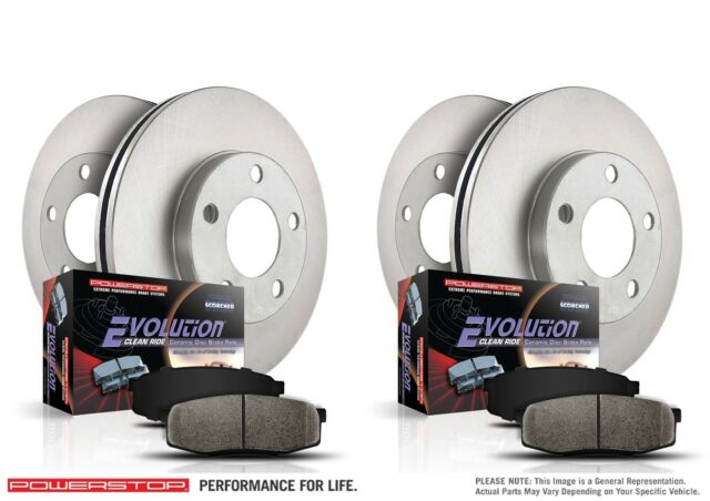 Ceramic Brake Pads Power Stop KCOE370 Autospecialty Rear Stock Replacement Kit-OE Rotors Calipers