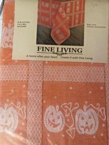 "TABLECLOTH  Fine Iving 95/%cotton halooween 60/""x 84/"" Orange #26"