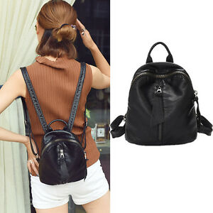 Women-039-s-Small-Mini-Faux-Leather-Backpack-Rucksack-Daypack-Purse-bag-Cute