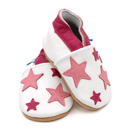Children/'s rose et blanc Twinkle Stars chaussures de bébé Cadeau. Neuf