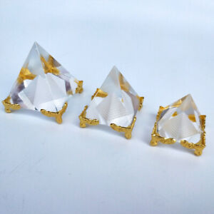 Energy-Small-Feng-Shui-Egyptian-Pyramid-Clear-Crystal-Healing-Reiki-Home-Decor
