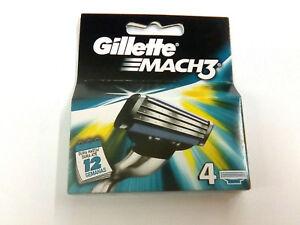 Gillette-Mach3-ricambio-rasoio-lamette-4-pezzi-trilama-rasatura-uomo-Mach-3
