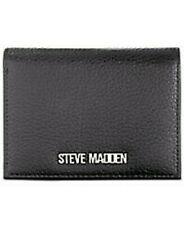 Steve Madden Black Gold Sammi Snap Closure Wallet Faux Pebble Leather SC
