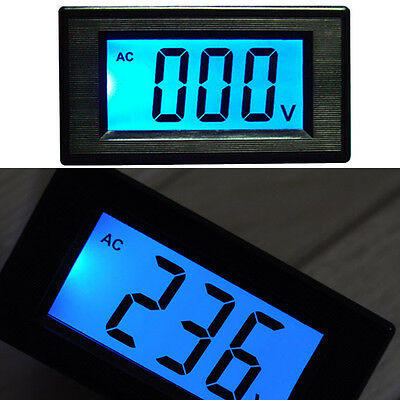 80-500V AC LCD Digital Volt Panel Tester Meter Voltmeter 110V 220v 240v 380V 120