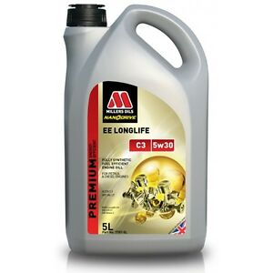 MILLERS-EE-LONGLIFE-NANODRIVE-C3-5W30-ENGINE-OIL-FULLY-SYNTHETIC-5L-7707G-SPOOX