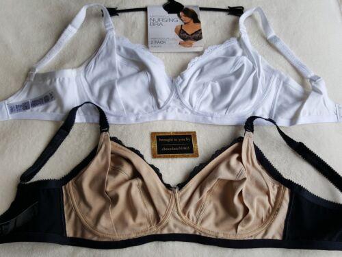 M/&s 2 Pack Coton Organique Doublé Bonnet Sans Armature maternité Nursing bras 36DD