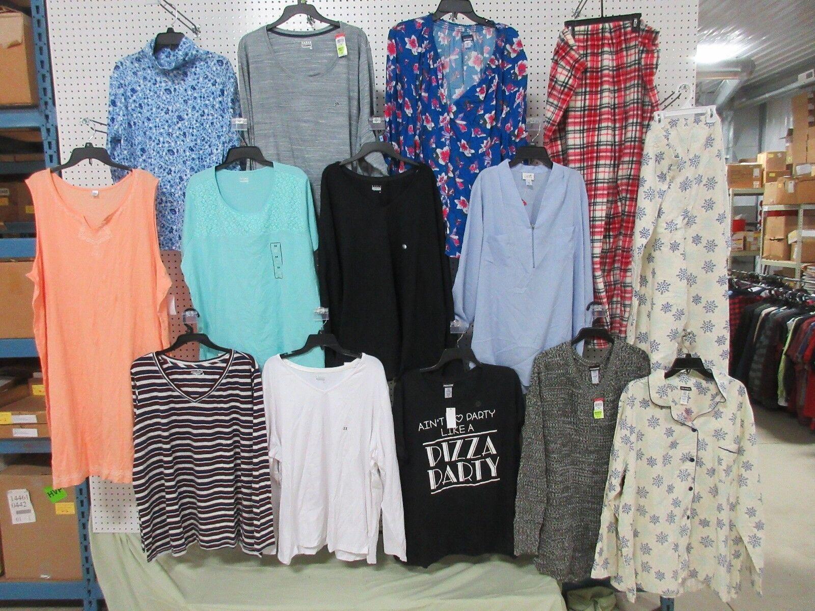 13 damen 3XL TOPS CLOTHES BLOUSES SHIRTS LONG SHORT SLEEVE SWEATER PANTS LOT