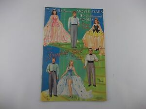 Vintage-Merrill-1941-Movie-Stars-Hollywood-Models-Cut-Out-Paper-Doll-Book-Repro