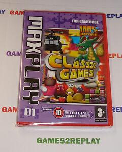 RARE-GAMECUBE-MAX-PLAY-10-RETRO-CLASSIC-ARCADE-GAMES-NEW-FACTORY-SEALED