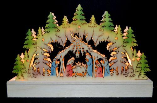 3D Led Schwibbogen Lichterbogen Weihnachten Lichter Erzgebirge 691 mit Adapter