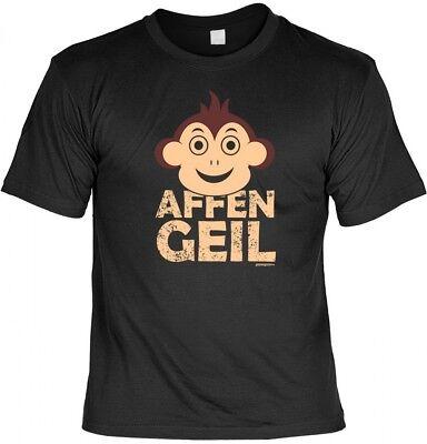 witziges Spruchshirt Geschenk Humor Motiv Druck Affengeil T-Shirt Funshirt