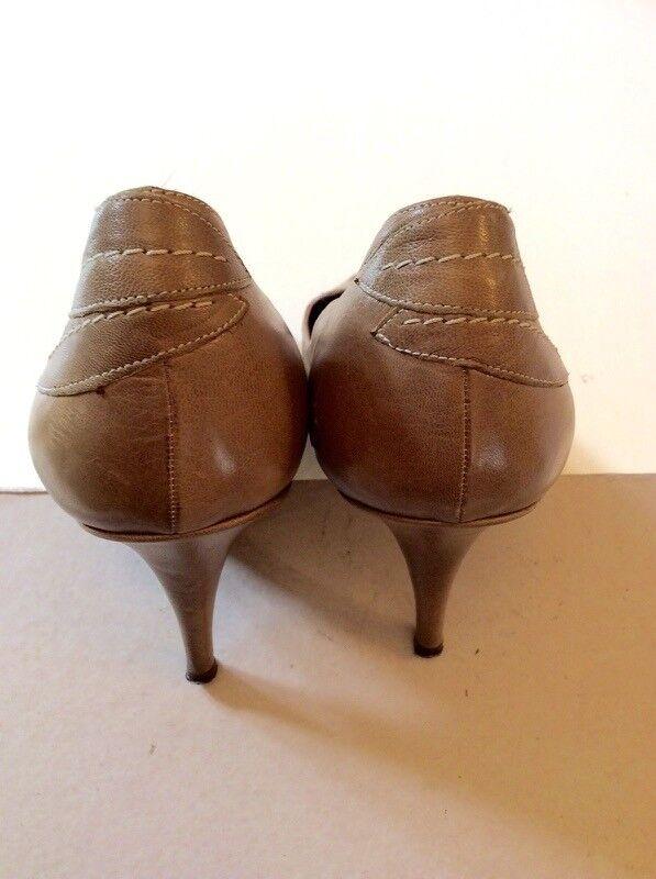 DKNY Fawn in pelle Stitch FOGLIA Trim tutte le scarpe scarpe scarpe con tacco in pelle misura 6 39   Speciale Offerta  f7b1af